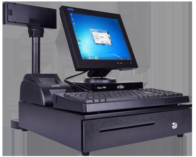亿利达 POS9000 12.1寸分体式商用机